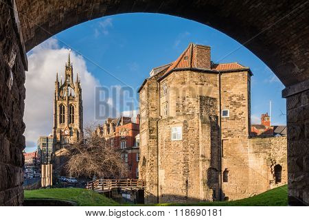 Framed Black Gate And St Nicholas Cathedral