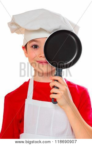 Cook boy on white