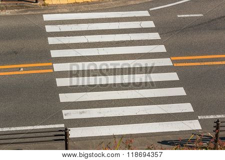 Urban Pedestrian Crosswalk.