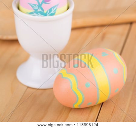 Decorated Easter Eggs And Cup