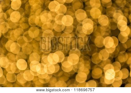 Abstract Light Celebration Blur Background, Golden Lights.