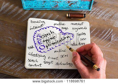 Handwritten Text Seo Search Engine Optimization