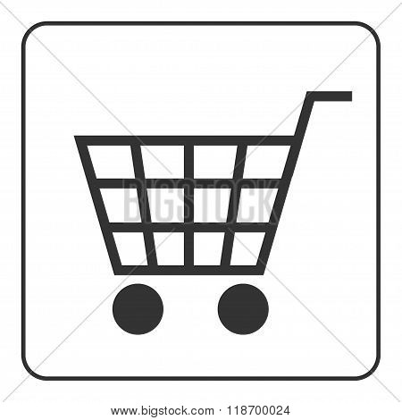 Shopping Cart Sign With Frame
