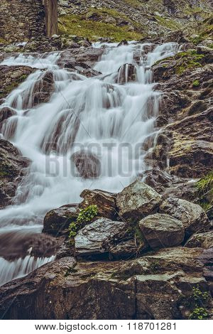 Majestic Mountain Stream Waterfall