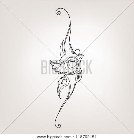 Elegance Vector Illustration With Flower