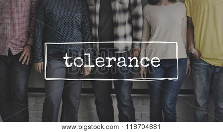 Tolerance Tolerate Toleration Indulgence Respect Concept