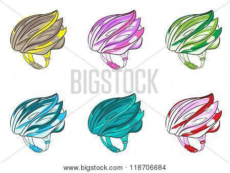 Clipart with bicycle helmets
