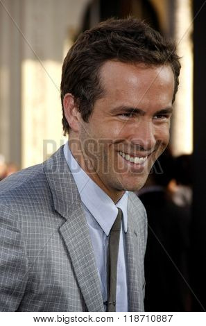Ryan Reynolds at the Los Angeles Premiere of