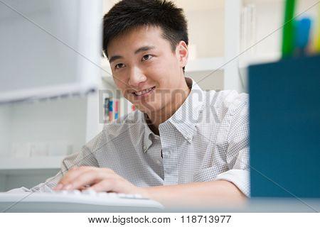 Male office worker