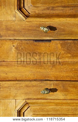 Venegono Abstract   R In A  Door Curch  Closed Wood   Italy  Varese