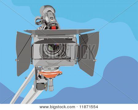 Câmara de vídeo HD em guindaste