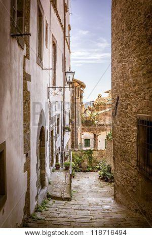 Beautiful Street Of Cortona, Tuscany