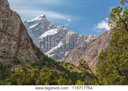 Alpine landscape high altitude