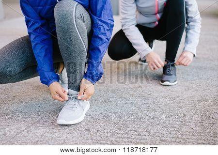 Women Getting Ready For Urban Running