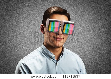 Man in retro spectacles