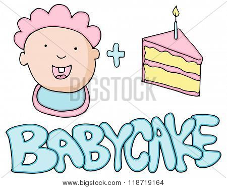 An image of a Baby Cake Valetines Message.