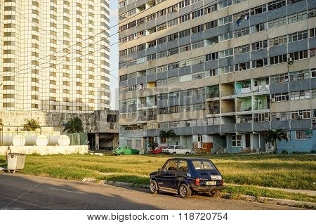 Poor Residential Area With Apartments In The Slum Apartment Buildings