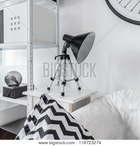 Stylish Night Lamp On Nightstand
