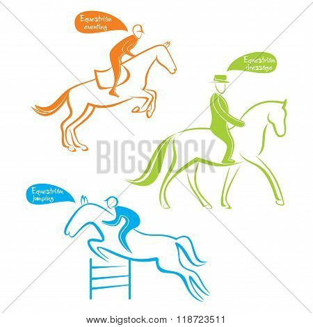 different equestrians sports design