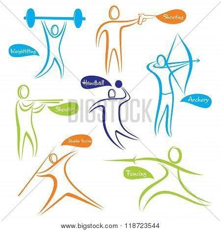different sport icon or symbol design