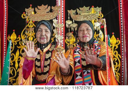 Bajau Tribe in Traditional Costume.
