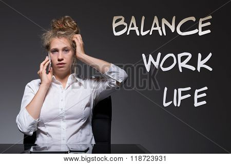 Woman Is A Workaholic
