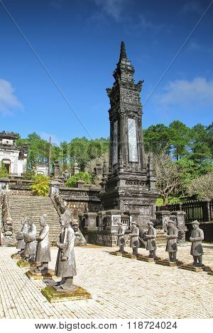 Tomb of Emperor Khai Dinh last of the Nguyen dynasty near Hue, Vietnam