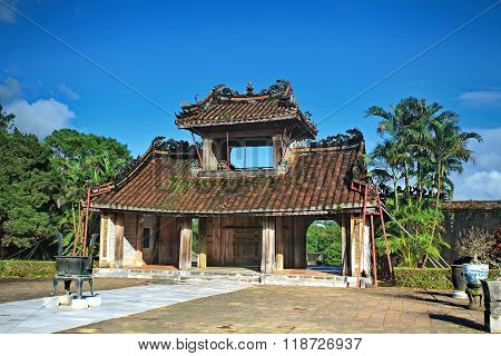 Vietnam ancient Tu Duc royal tomb and Gardens Of Tu Duc Emperor near Hue, Vietnam