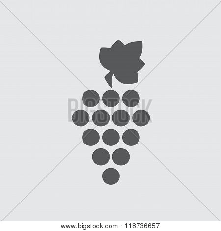 Grape icon or sign. Design element for winemaking, viticulture, wine house. Vector illustration.
