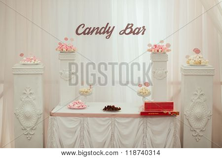 Dessert table and candy bar