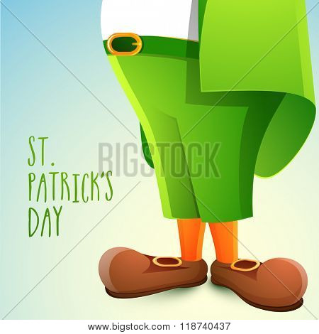 Creative illustration of Leprechaun for Happy St. Patrick's Day celebration.