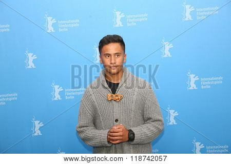 Akuhata Keefe attends the 'The Patriarch' (Mahana) photo call during the 66th Berlinale International Film Festival Berlin at Grand Hyatt Hotel on February 13, 2016 in Berlin, Germany.