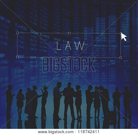 Law Lawyer Judge Enforcement Working Concept