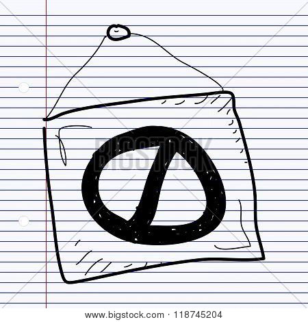 Simple Doodle Of A No Entry Sign