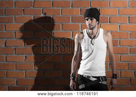 Punk Rocker Stylish Man