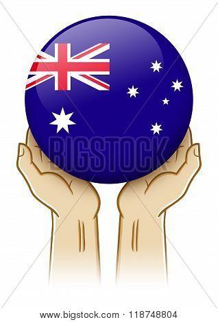 Pray For Australia Illustration