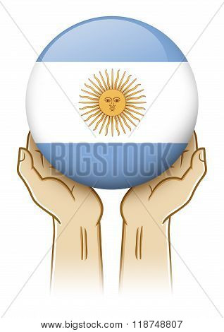 Pray For Argentina Illustration