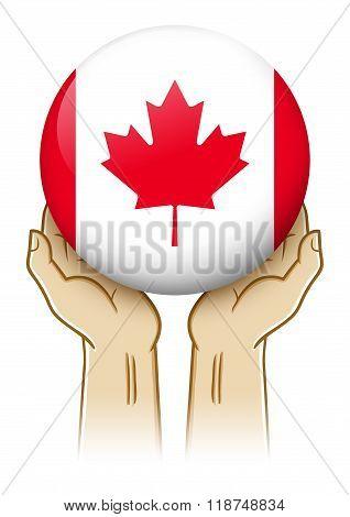 Pray For Canada Illustration