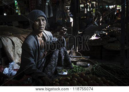 Burmese elder