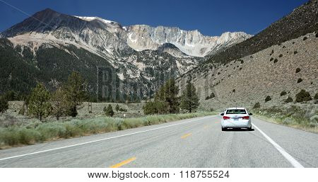 YOSEMITE NATIONAL PARK, CALIFORNIA -- July 10, 2014 -- The Sierra Nevada Mountains provide a stark barrier between Nevada and California's Yosemite National Park.