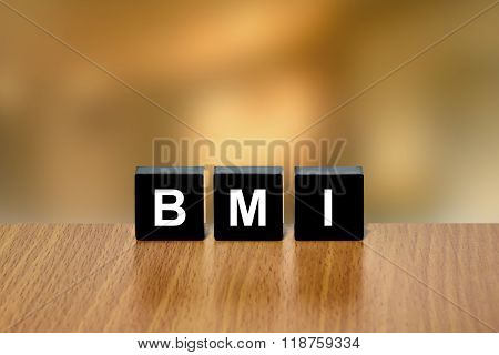 Bmi Or Body Mass Index On Black Block