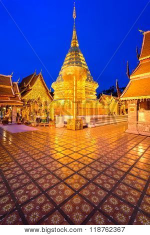 Wat Phra That Doi Suthep Temple of Chiang Mai, Thailand.