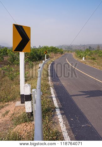 Road To Boarder Crossing Thailand