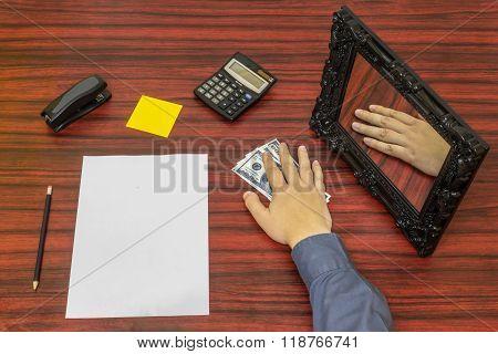 Loosing Money Concept