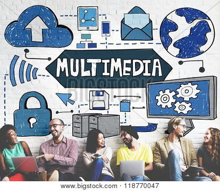 Multimedia Media Video Application Entertainment Concept