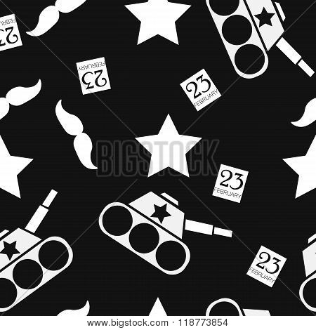 Seamless Vector Pattern To The Day Of Defender