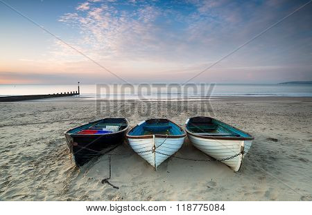 Boats On Bournemouth Beach
