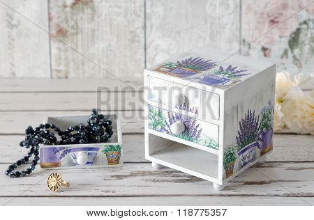 Decoupaged Jewellery Box