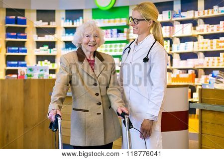 Senior Patient Happy With Her Smiling Doctor