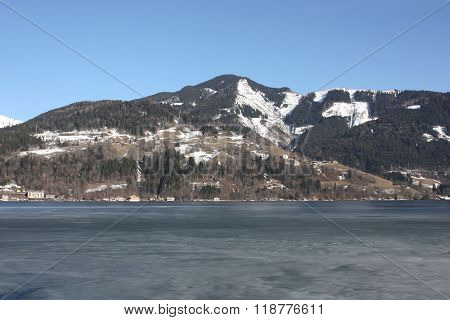 Lake Zell, Zell am See, North Tirol, Austria.